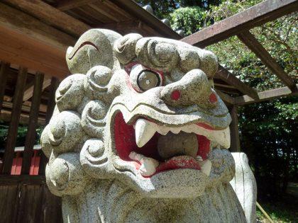 御霊神社 山田 狛犬:阿像(詳細)