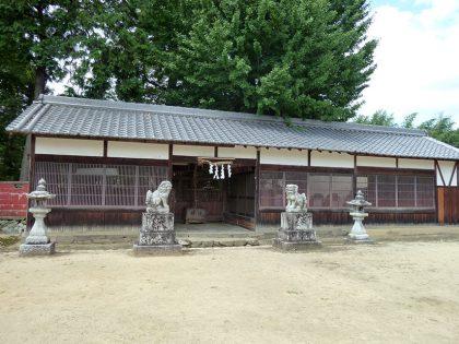 龍智神社 住川 拝殿:右斜め